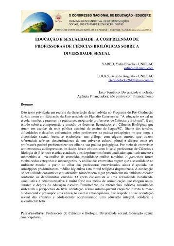 EDUCAÇÃO E SEXUALIDADE: A COMPREENSÃO DE ...