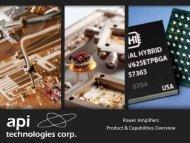 Power Amplifiers Tour - Spectrum Microwave by API Technologies