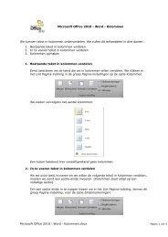 Microsoft Office 2010 - Word - ICT KATHOtielt.be