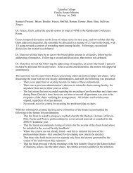 Catawba College Faculty Senate Minutes February 16, 2006 ...
