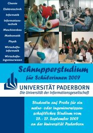 Anmeldung - Universität Paderborn