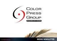 Newsletter # 40 - Color Press Group