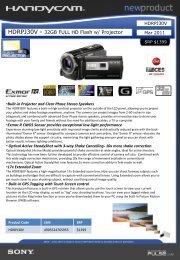 HDRPJ30V - 32GB FULL HD Flash w/ Projector