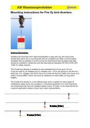 Mounting instructions for Fire fly bird diverters. - drive-electric.hu