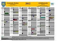 2012 Abfallkalender - in der Gemeinde Heiden