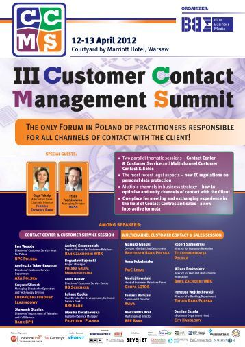 Customer ontact anagement ummit C S III - Blue Business Media