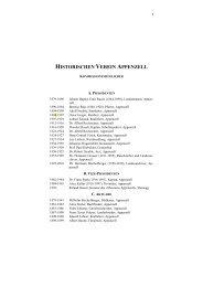 HISTORISCHEN VEREIN APPENZELL - Historischer Verein ...