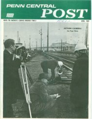 April 1969 - Unlikely Penn Central Railroad