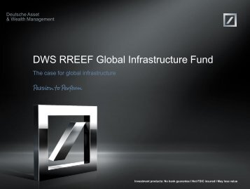 Sales idea DWS RREEF Global Infrastructure Fund - DWS Investments