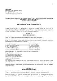 Anexo II ACT Caixa 2006/2007 (Regulamento Delegado Sindical)