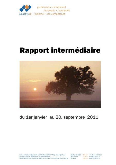 Rapport intermédiaire du 1er janvier au 30. septembre ... - Palliative ch