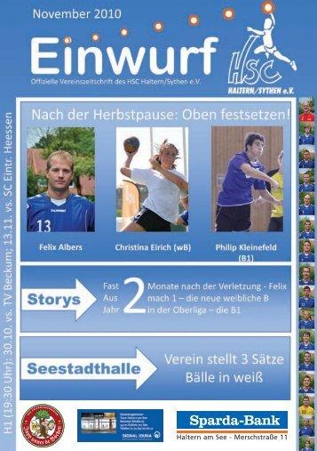 HSC Magazin 2010-11-05 - HSC Haltern-Sythen 1992 e. V.