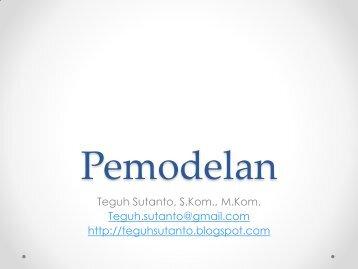 Teguh Sutanto, S.Kom., M.Kom. Teguh.sutanto@gmail.com http ...