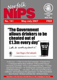 No. 141 May-July 2007 FREE - Norwich and Norfolk CAMRA
