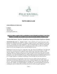 Conde Nast Traveler Top California Golf Resort - Pelican Hill
