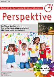Perspektive 09/2011 - Zentralverein der Wiener Lehrerschaft