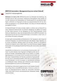 Management-buy-out sichert Zukunft - Broetje-Automation