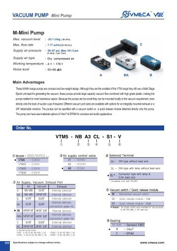 VACUUM PUMP Mini Pump - x-pro GmbH