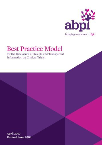 Best Practice Model - Association of the British Pharmaceutical ...