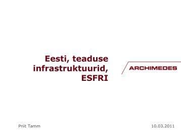 ESFRI ja Eesti - Archimedes