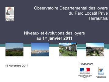 le diaporama de présentation de l'observatoire des loyers 2011 - Adil
