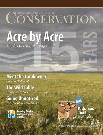Download Magazine PDF - Alberta Conservation Association