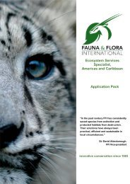 Ecosystem Services specialist americas Application Pack
