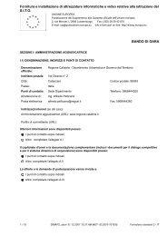 Bando di gara - Regione Calabria - Dipartimento Urbanistica e ...