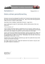 Nyhedsbrev 2 Ekstra ordinær generalforsamling