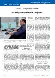 Die MES-Lösung HYDRA bei MEBI - Productivity Management