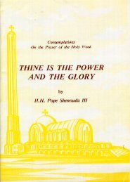 THINE IS THE POWER AND THE GLORY - Church of the Virgin ...
