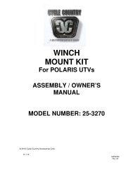 owners manual cc25-3270 - winch mount kit pol - Schuurman B.V.
