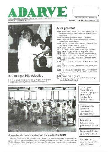 D. Domingo, Hijo Adoptivo - Periódico Adarve