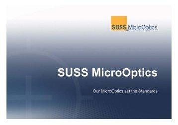 Company Presentation - SUSS MicroOptics