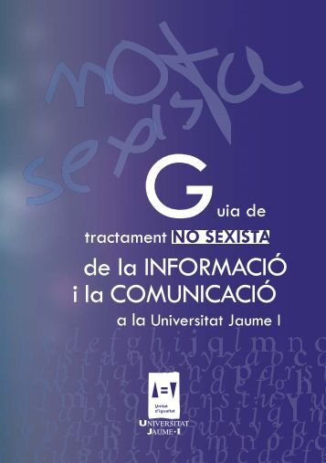 Isonomia-Guia No Sexista TOTAL.indd - Universitat Jaume I