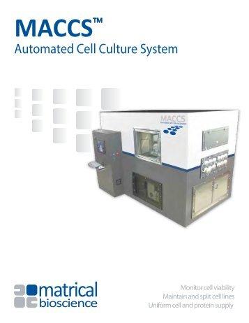 MACCS Brochure - Matrical Bioscience