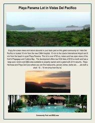 Playa Panama Lot in Vistas Del Pacifico - Costa Rica Property