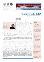 La Lettre n°12 - Centre d'Économie de la Sorbonne - Université ...