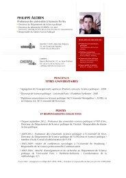 Philippe ALDRIN - Sciences Po Aix