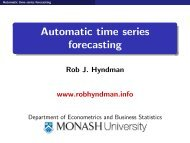 Automatic time series forecasting - CiteSeerX
