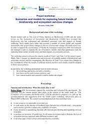 Scenarios and models for exploring future trends of ... - Events