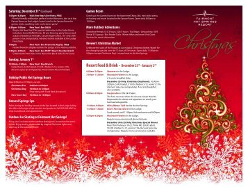 Christmas - Fairmont Hot Springs Resort
