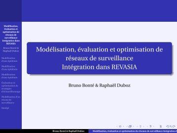 Modélisation, évaluation et optimisation de réseaux de surveillance ...