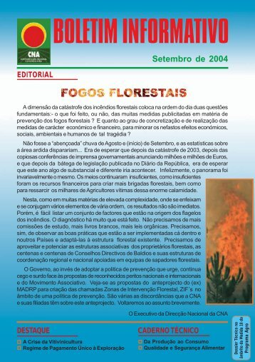 Boletim Informativo Setembro de 2004 - CNA