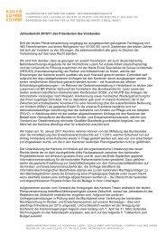 Jahresbericht 2010/11 des Präsidenten des Vorstandes Seit ... - Kokes