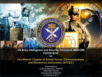 INSCOM - AFCEA Belvoir