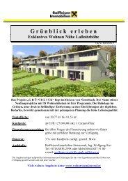 G r ü nblickerleben Exklusives Wohnen Nähe Laßnitzhöhe