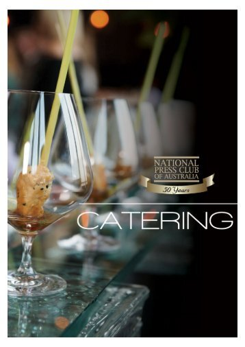 Catering Menus - National Press Club
