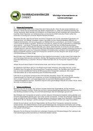 Wichtige Informationen zu Lastenanhänger - Fahrradanhänger ...