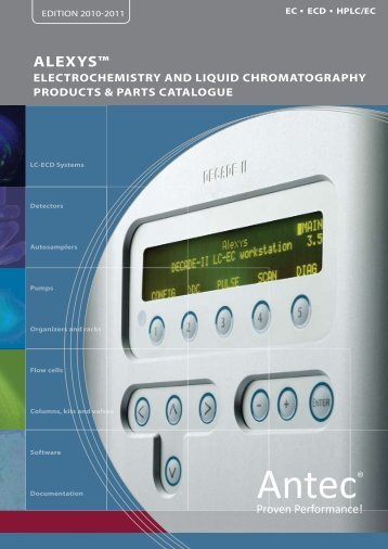 alexys™ analyzers - SiSW >> Science Instruments and Software